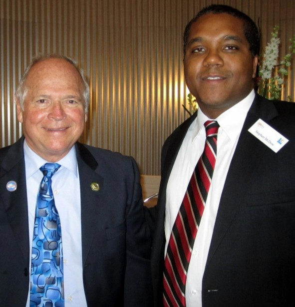 Stephen McDow with Assembly-member Jim Silva 67th District, California.