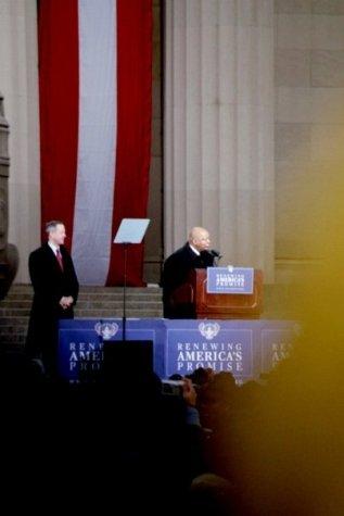 Stephen McDow watching Congressman John Lewis, 5th District, Georgia.