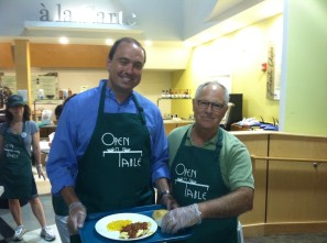Senator Jamie Eldridge, Middlesex & Worcester District, with Peter Hilton, President of Open Table.