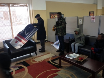 Edwin Powell & Ground Team Setting Up New Headquarters.