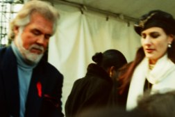 Singer Kenny Rogers at President Clinton's inauguration Concert