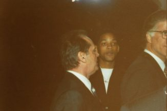 Actor's Will Smith, Jack Nicholson and Ted Danson at President Clinton's Inauguration concert