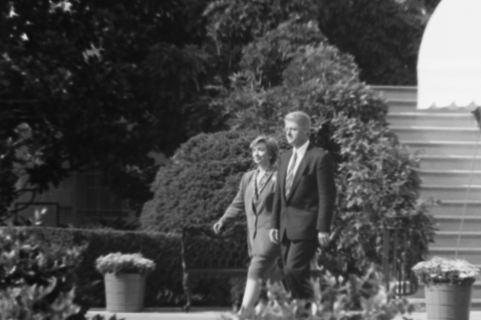 The Clinton's at the White House