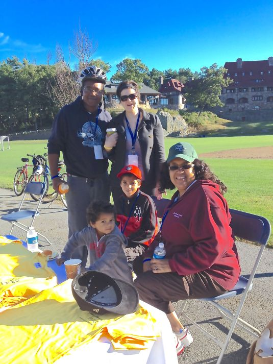 Stephen McDow & Family at Ride For Food 2013.