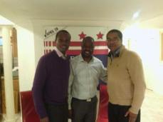 Stephen McDow with Edwin Powell, Candidate, DC City Council