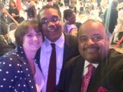 Stephen & Rebecca McDow with Roland Martin
