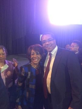 Stephen McDow with Congresswoman Maxine Waters (D-CA)