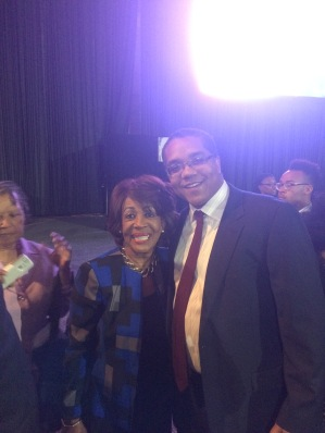 Stephen McDow with Congresswoman Maxine Waters (D-CA)