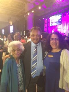 Reverend Jessie Jackson with Stephen McDow's family.