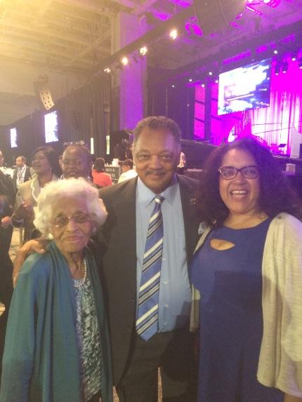 Reverend Jessie Jackson with Stephen McDow's family.